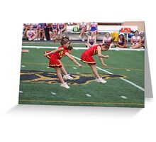 Cheer Leaders in Action Greeting Card