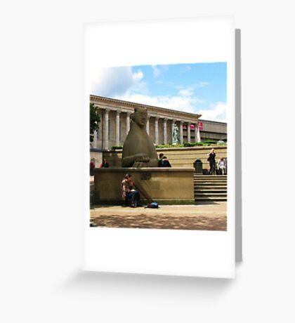 Birmingham ~ Victoria Square With Didgeridoo Greeting Card