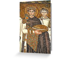 Emperor Justinian Greeting Card