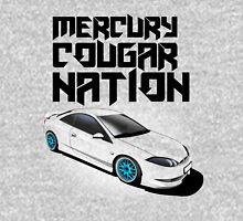 Mercury Cougar NATION (Blue rims, black text)  Unisex T-Shirt