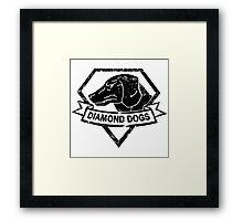 Diamond (Black) Framed Print