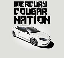 Mercury Cougar NATION (grey rims, black text)  Unisex T-Shirt