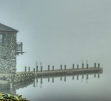 The Windermere Boathouse And The Hanging Jetty.. by Jamie  Green