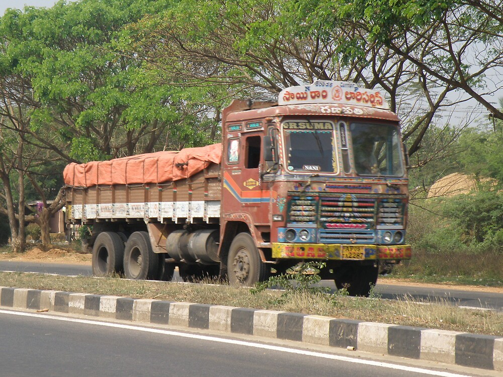HGV's in India. by Edward Denyer