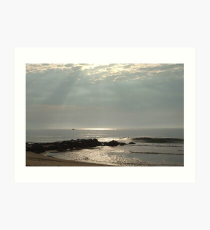Silver Sea Sunrise - Ocean Grove, NJ Art Print