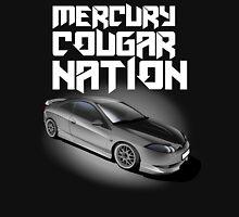 Mercury Cougar NATION (Grey rims, white text)  Unisex T-Shirt
