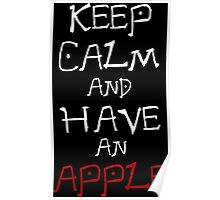 death note keep calm and have an apple anime manga shirt Poster