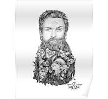 Kitten Beard by April Alayne Poster