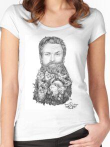 Kitten Beard by April Alayne Women's Fitted Scoop T-Shirt