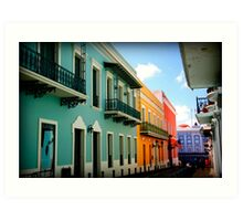 colorful streets Art Print