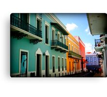 colorful streets Canvas Print