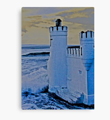 A wash with sea water Canvas Print