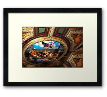 Michelangelo's masterpiece ceiling in the Vatican's Sistine Chapel Framed Print