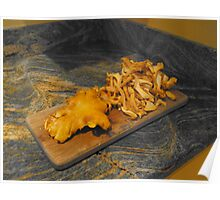 Fresh Picked Chantrells - Cuisine Poster
