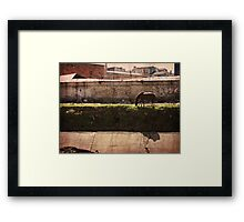 Man and Horse Framed Print