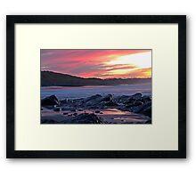 An evening seascape Framed Print