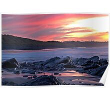 An evening seascape Poster