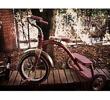 Old tricycle Photographic Print