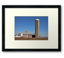 Sunny day farm scene Framed Print