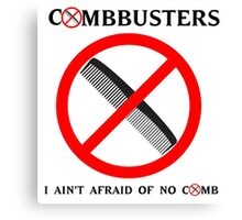 Combbusters - Ghostbusters Parody Canvas Print