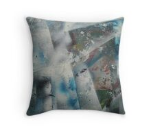 Discarded Art.. Blue Mood Throw Pillow