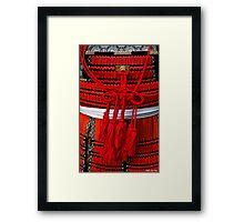 Samurai's armor - detail Framed Print