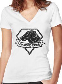 Diamond (Black) Women's Fitted V-Neck T-Shirt