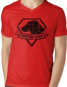 Diamond (Black) Mens V-Neck T-Shirt