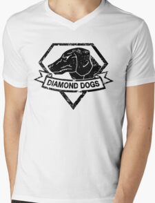 Diamond (Black) Mens V-Neck T-Shirt