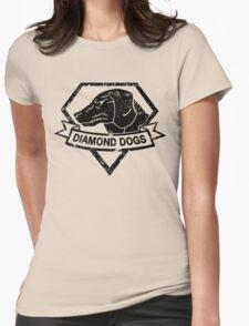 Diamond (Black) Womens Fitted T-Shirt