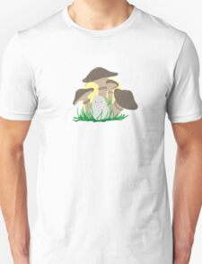 bird and mushrooms Unisex T-Shirt
