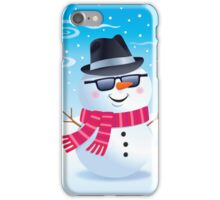 Cool Snowman Wearing Sunglasses and Fedora iPhone Case/Skin