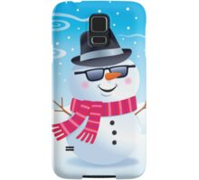 Cool Snowman Wearing Sunglasses and Fedora Samsung Galaxy Case/Skin