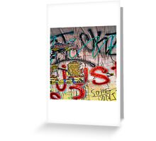 Graffiti #4 Greeting Card
