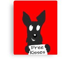 Scottie Dog 'Free Kisses' Canvas Print