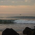 Surf and Rocks in Ocean Grove Dawn by Anna Lisa Yoder