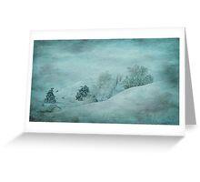 Blue Winter Greeting Card