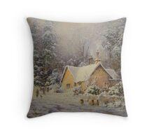 Winter Lodge, Northumberland Throw Pillow