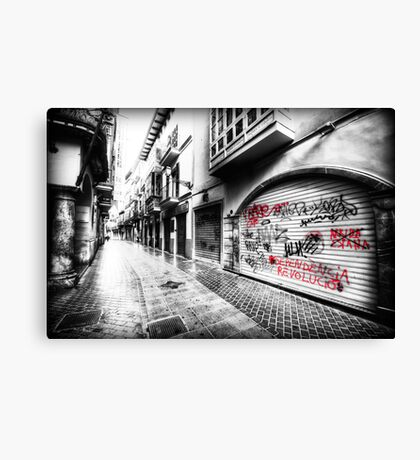 Old Town Palma Streets Canvas Print