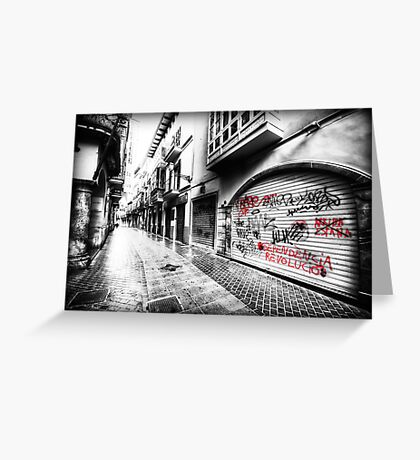 Old Town Palma Streets Greeting Card