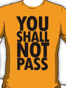 You Shall Not Pass- Gandalf T-Shirt