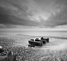 Stormy Beach by Leon Ritchie