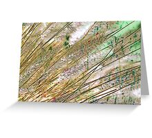Botanical Abstract in Pastel X Greeting Card