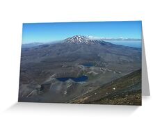 The volcano Ruapehu from the summit of Ngauruhoe Greeting Card