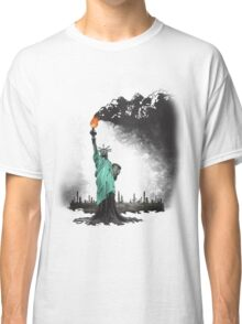 surreal rendered American liberty statue illustration: LIBERTY OIL Classic T-Shirt