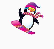 Cute Penguin Snowboarding Unisex T-Shirt