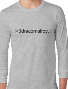i <3 draco malfoy Long Sleeve T-Shirt
