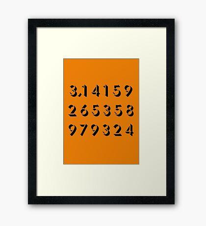 Pi - Orange Framed Print