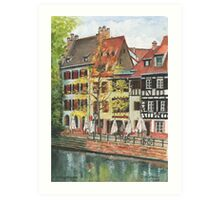 Strasbourg Canal Houses Art Print