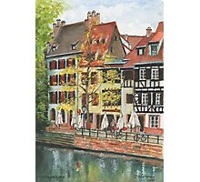 Strasbourg Canal Houses Photographic Print